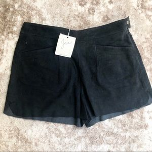Joie Navy Suede Shorts